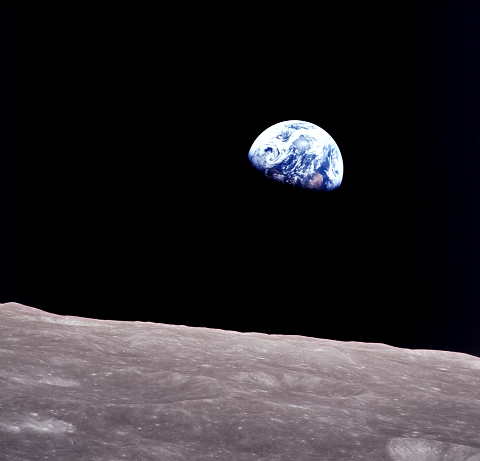 Photo: Apollo 8 Earthrise. This photo has long inspired efforts to advance sustainability around the globe. (Source: NASA)